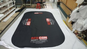 8ft Black tablecloth for REDCON