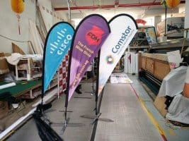 2.2m teardrop banner - CISCO