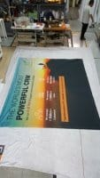 Fabric banner for Exhibition booth panel