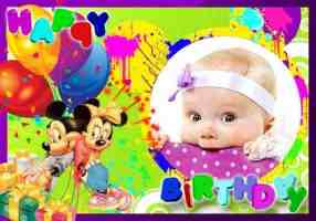 Mickey Mouse Birthday Banner Singapore