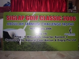 Banner Printing for GOlf A board