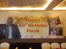 Backdrop printing for 60th birthday
