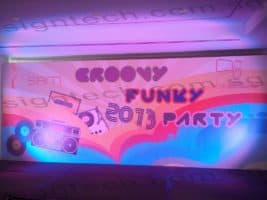 Backdrop with stand for funky party 2013