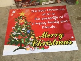 Banner Printing for Christmas Festival