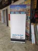 Pull Up banner for property