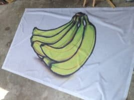 Banner picture printed on fabric