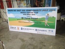 A Board for golf - sport signage board