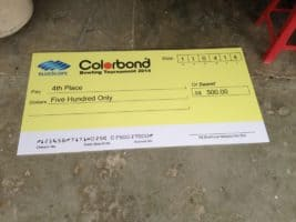 Foam Board Mock Up Cheque