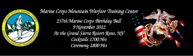 Marine Corps MWTC Ball Tickets designed by Sign-Ups and Banners Corp.