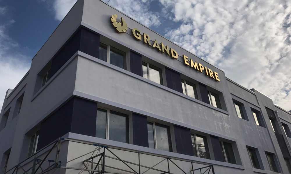 Вывеска бизнес-центра Grand Empire