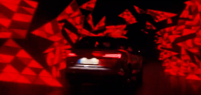 Still from AUDI commercial. Production design by Artbook Agency