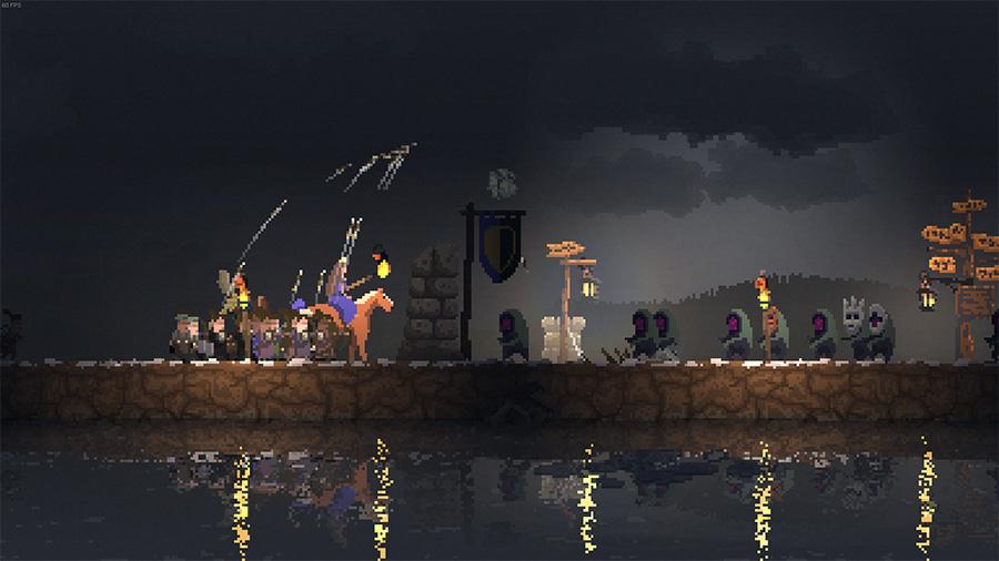I Kingdom New Lands må du forsvare deg mot monster når det er natt