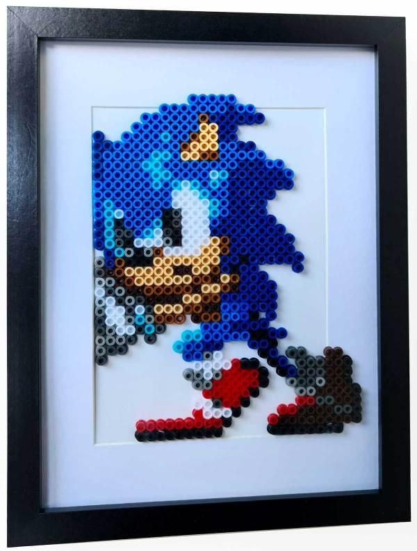 Cuadro Sonic (Hama Beads)