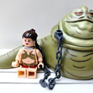 Minifiguras Star Wars: Jabba el Hutt y Leia