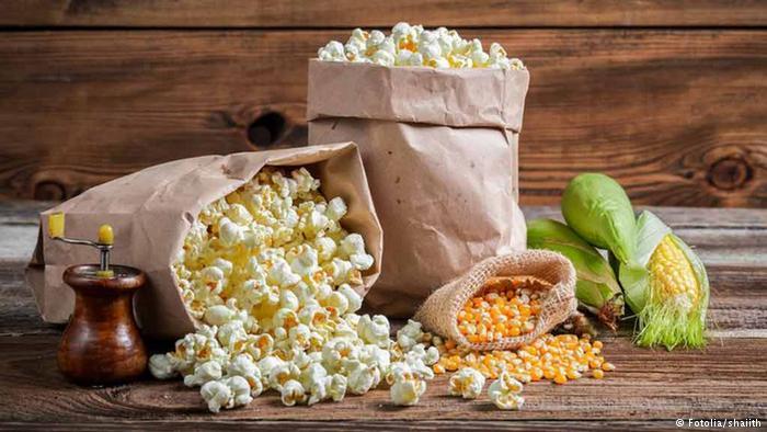 مكونات الأطعمة الغذائة :الفشار