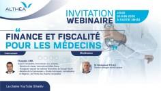 """ندوة تواصلية افتراضية : """"المالية والضرائب للأطباء"""""""