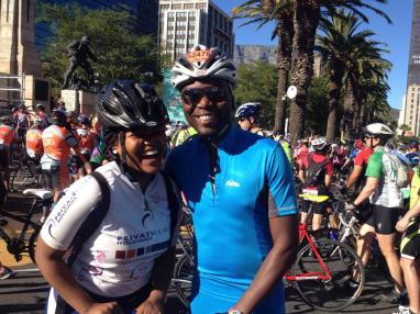 Start of the race with Pst. Nathi.