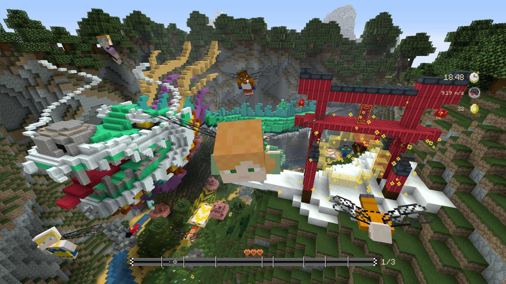 Minecraft Glide Beast Track Pack Out With YETI DRAGON And
