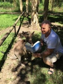 Kangaroo and Backpacks and Bra Straps