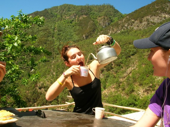 Tea time Tiger Leaping Gorge
