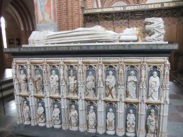 Sarcophagus of Scandinavian Queen Margrethe I. 1412 in Roskilde Cathedral