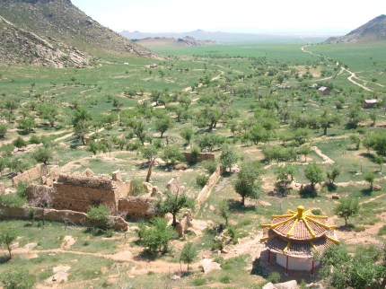 View from Amarbayasgalant monastery.