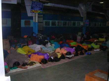 A night in the train station
