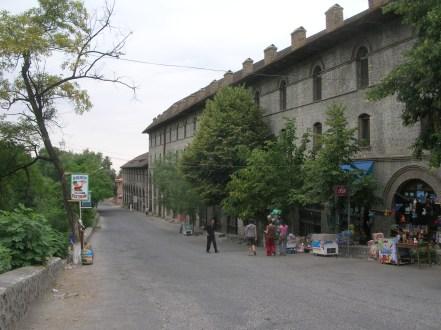 Walking in the streets of Seki, Azerbaijan