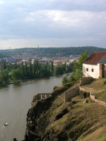 A beautiful day in Czech with a view of the Vltava River