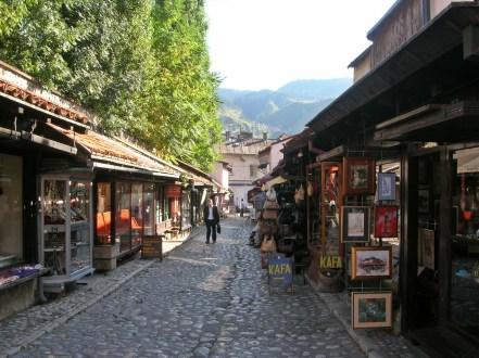 Sarajevo shops in the old town, Sarajevo, Bosnia