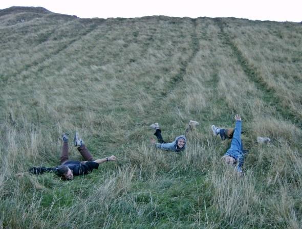 Lots of fun sliding Edinburgh Scotland