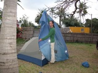 Ammon setting up camp