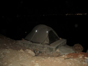Camping in Luanda's yacht club parking lot in the harbour -Angola