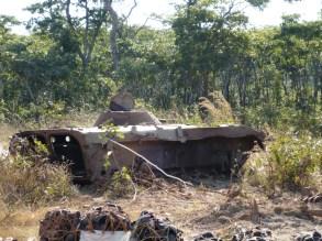 Old war tank -Angola