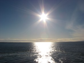 On the ferry boat on the way to Victoria BC