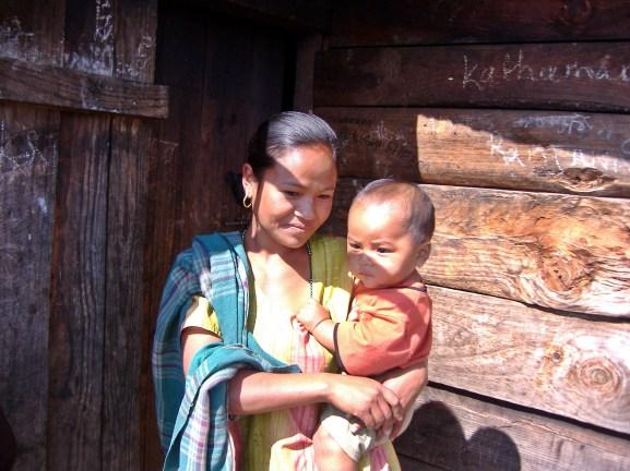 Children of Nepal. Backpacks and Bra Straps