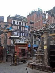 Streets of Kathmandu, Nepal. Backpacks and Bra Straps