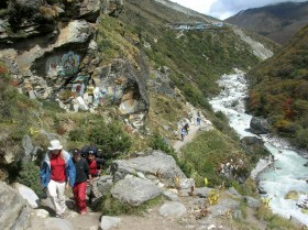 Trekking in Nepal. Backpacks and Bra Straps.al