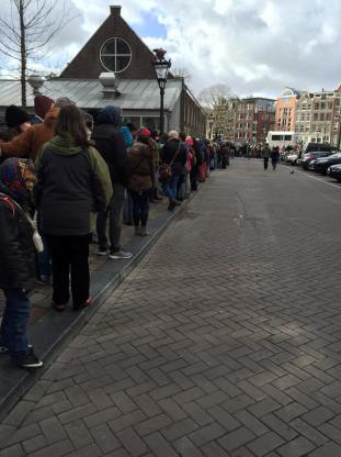 line up for Anne Frank - Savannah Grace
