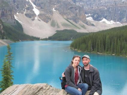 Ammon and Sasha in Banff Canada