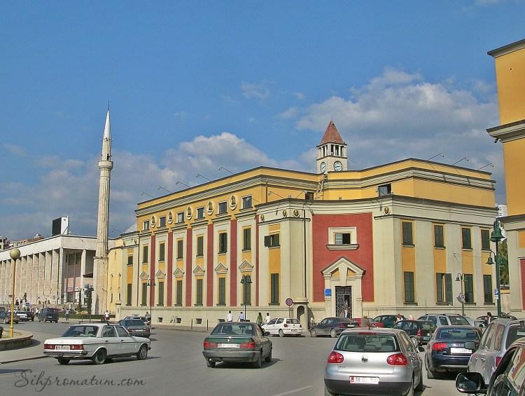 main square in Tirana.
