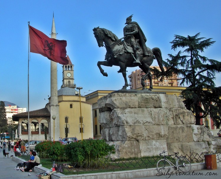 Skanderberg Statue - Tirana, Albania