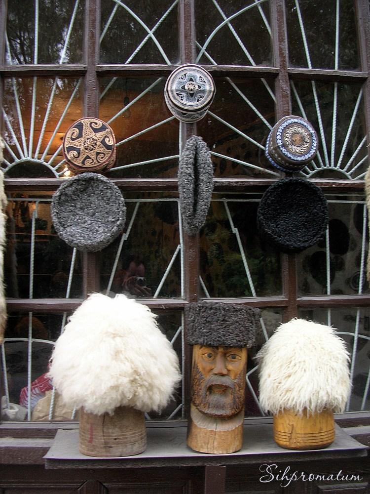 Seki. Papakha hats