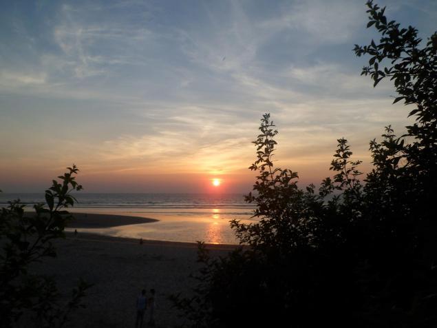 Sunset on Mandrem beach, Goa