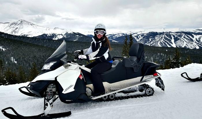 Snowmobile Tour in Winter Park, Colorado, USA