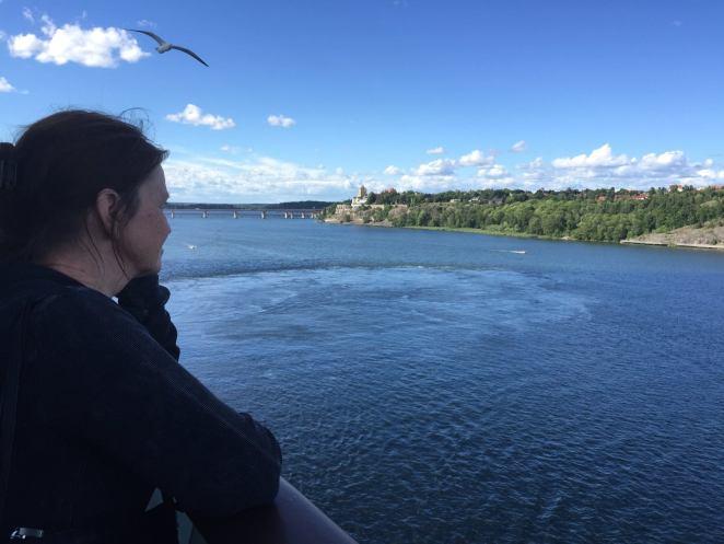 enjoying the view leaving Sweden