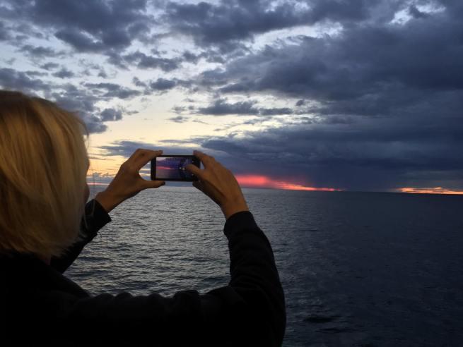 loving the sunset Sweden