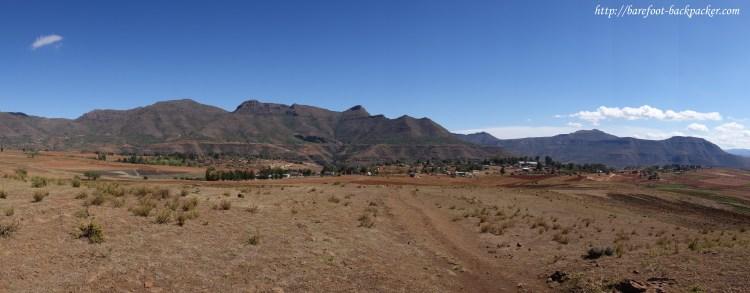 Mountain vista near Malealea, Lesotho.