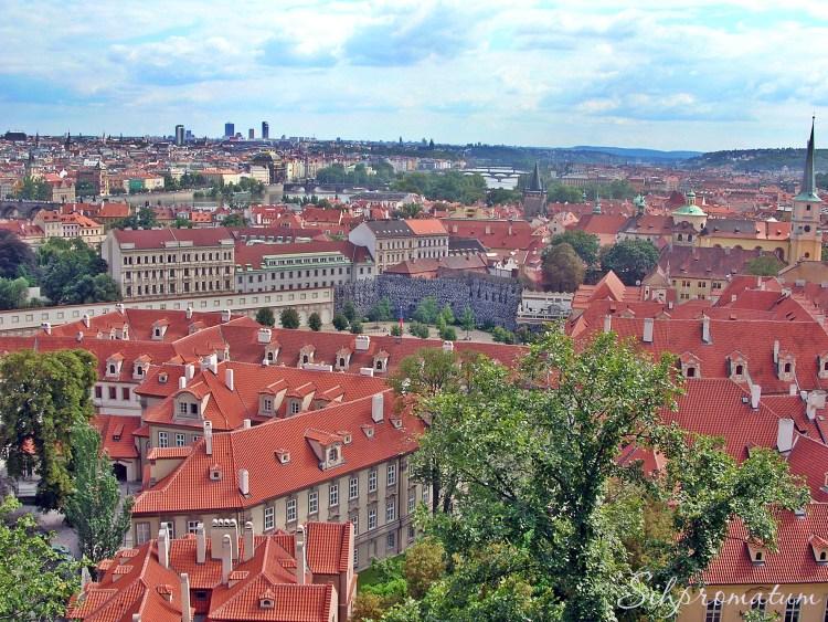 Prague rooftops., Czech Republic
