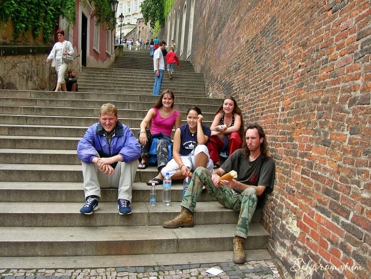steps in Prague, Czech Republic